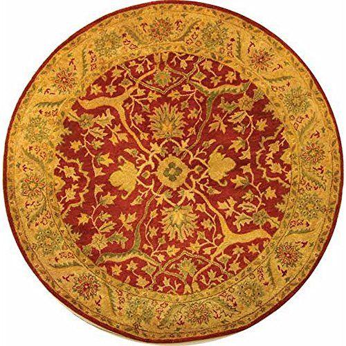Safavieh Antiquity Collection AT14C Handmade Rust Wool Round Area Rug, 6 feet in Diameter (6′ Diameter)