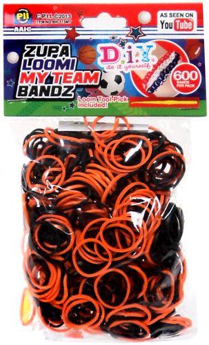 Diy do it yourself bracelet zupa loomi my team bandz 600 black diy do it yourself bracelet zupa loomi my team bandz 600 black orange rubber bands solutioingenieria Images