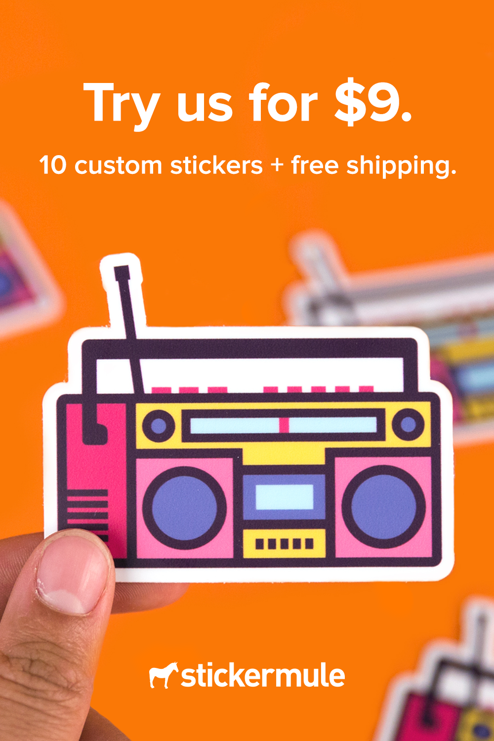 Custom sticker samples (With images) Custom stickers