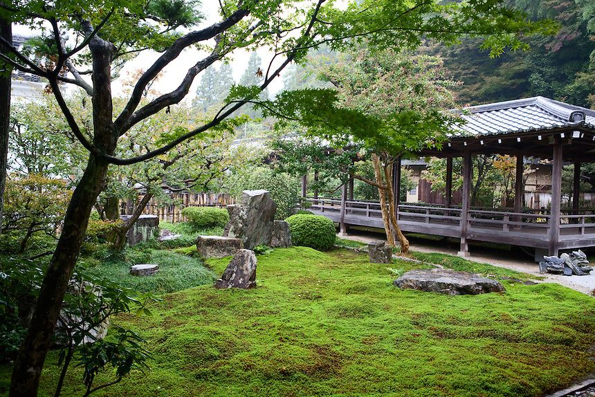 Buddhist Ceremony Traditional Japanese Garden: Buddhist Temple Garden, Kyoto