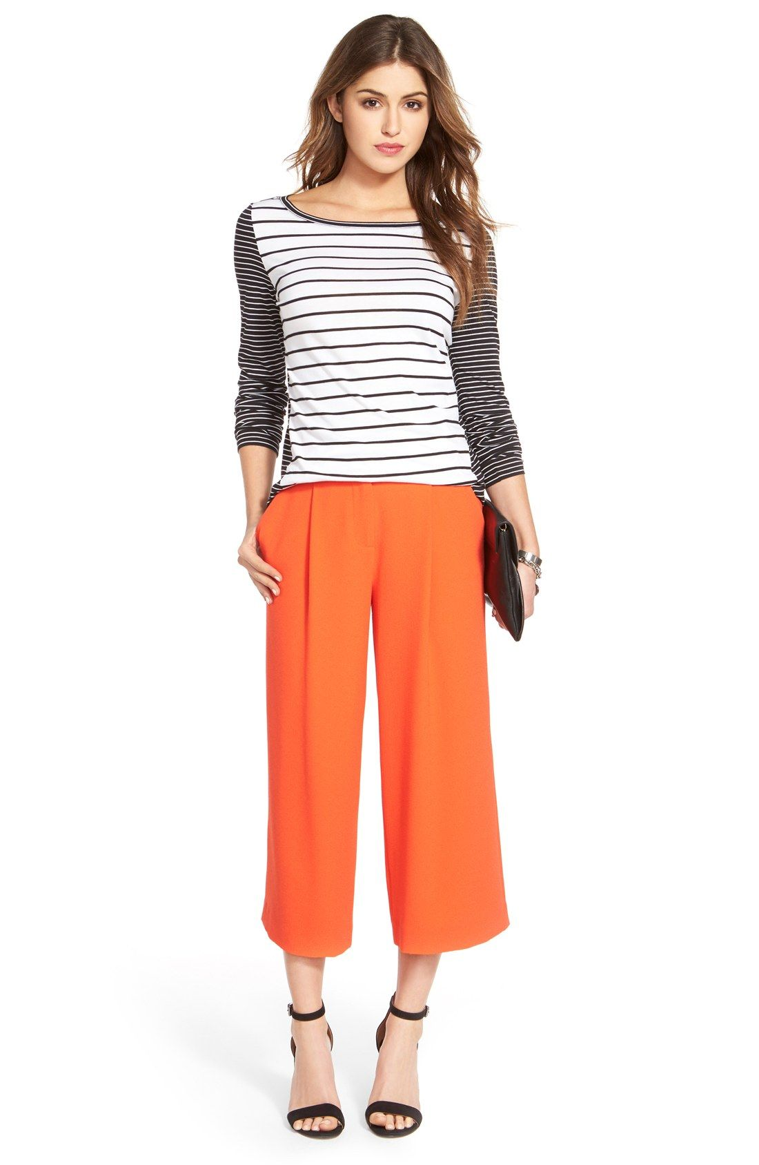 Vince Camuto Pleat Front Culottes