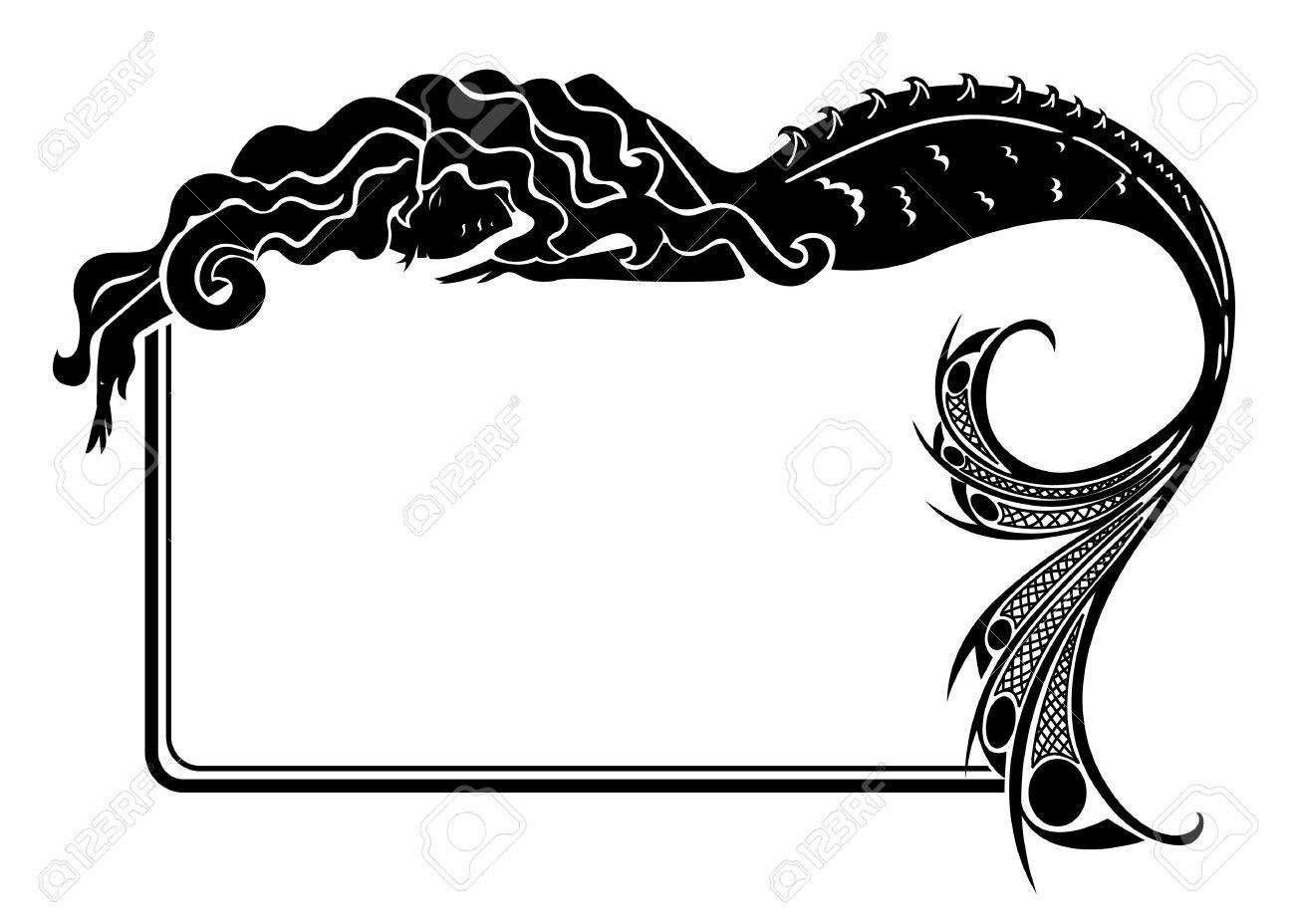 Mermaid Silhouette Stock Vector Illustration And Royalty Free Mermaid Silhouette Clipart Clip Art Silhouette Frames Mermaid Silhouette
