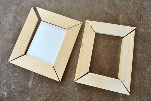 Making Simple Scrap Wood Picture Frames Diy Picture Frames Wood