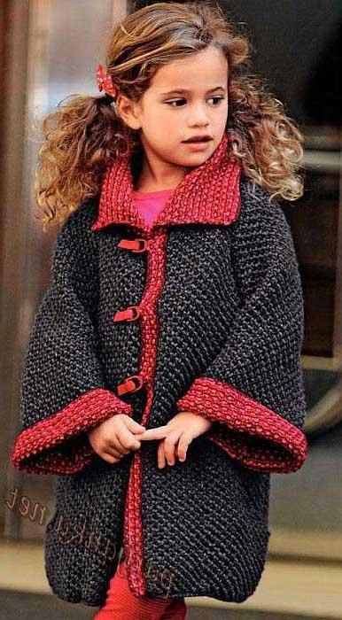 вязаное пальто для девочки спицами Knitting 8 вязание детский