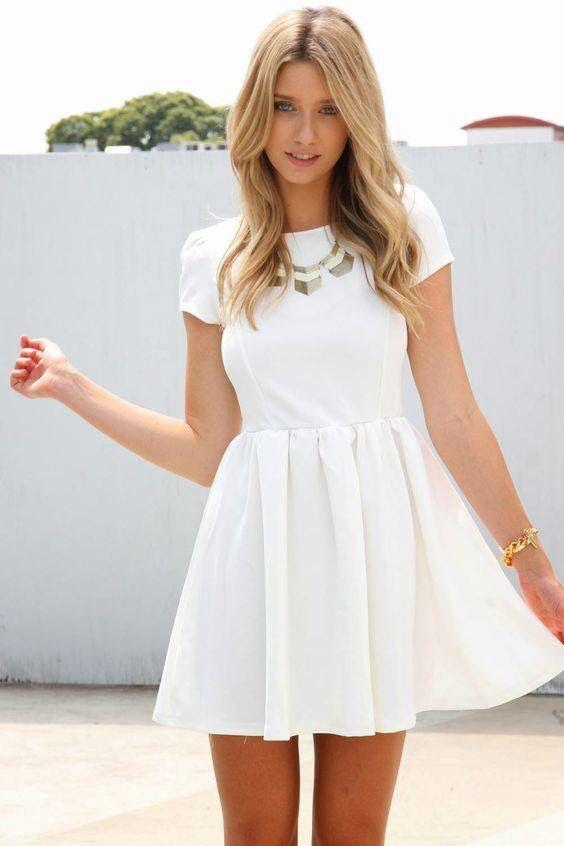 Vestidos de graduacion blancos cortos