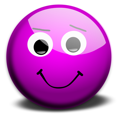 Novelty / Humorous PINK / MAGENTA Various Sizes SMILEY FACE STICKER PACK