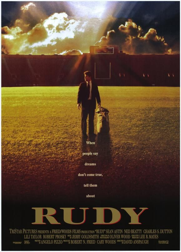 100 Greatest Films Afi Posters Rudy Movie Poster Top 100 Film