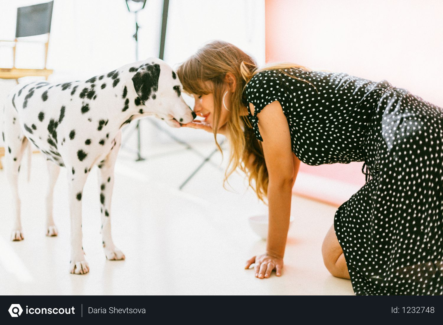 Free Woman Kissing White And Black Dalmatian Photo Download In Png Jpg Format Dog Personality Beautiful Dogs Photos Beautiful Dogs