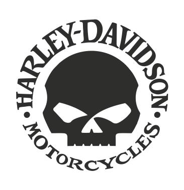 Harley Davidson Skull 1 Fremstillet Af 7 Ars Konturskaret Folie Uden Baggrund Konturskaering Betyder At Selve Moti Harley Davidson Klistermaerker Skabeloner