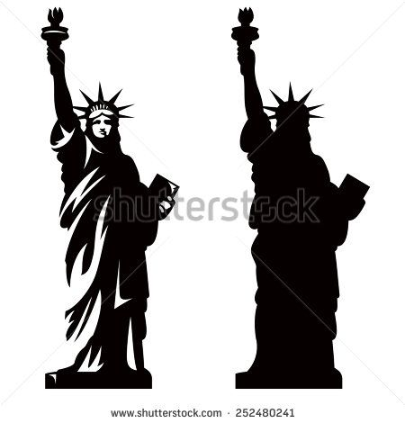Statue Of Liberty New York Landmark American Symbol Vector