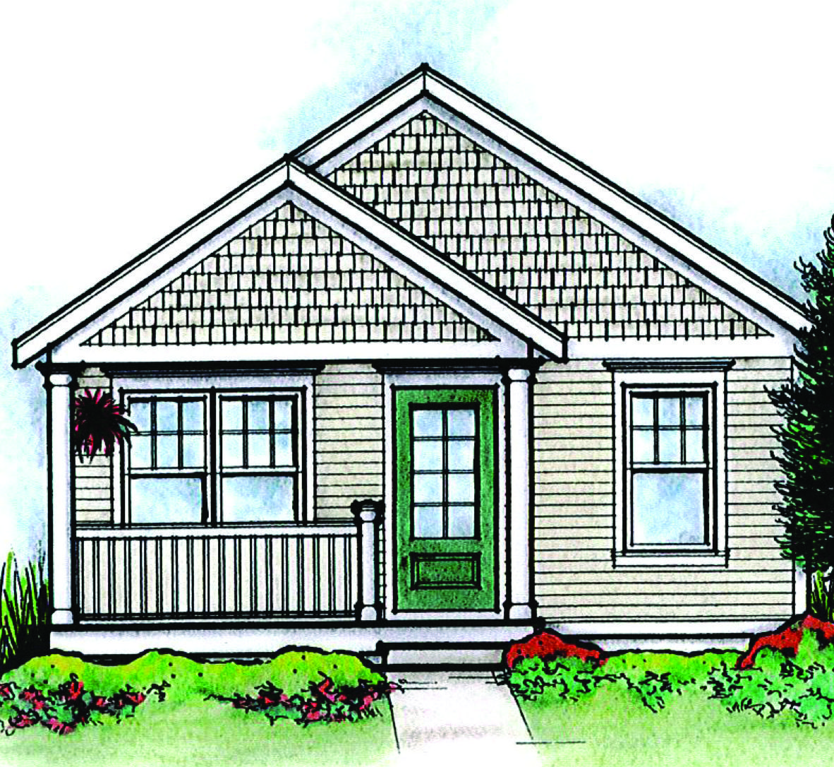 Plan 42332db Cozy 2 Bed Tiny House Plan In 2020 House