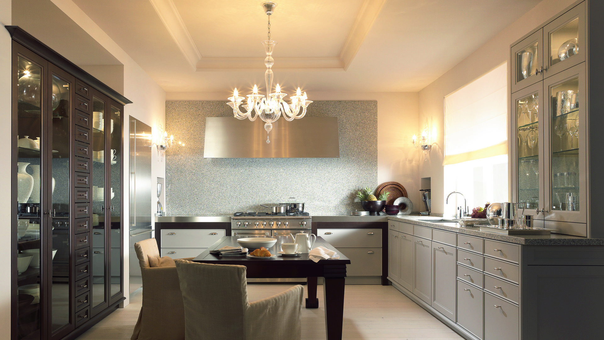 Moderne landhausküche siematic  Beaux Arts Collection by SieMatic in Flannel gray. Neutral gray ...