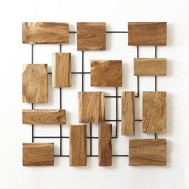 Marcel Teak Wall Art | Specht | Pinterest | Teak, Crates and Barrels