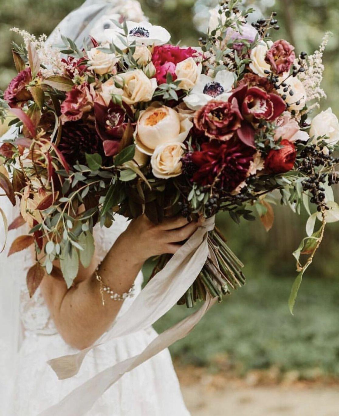 Burgundy Bouquet by Faye + Renee