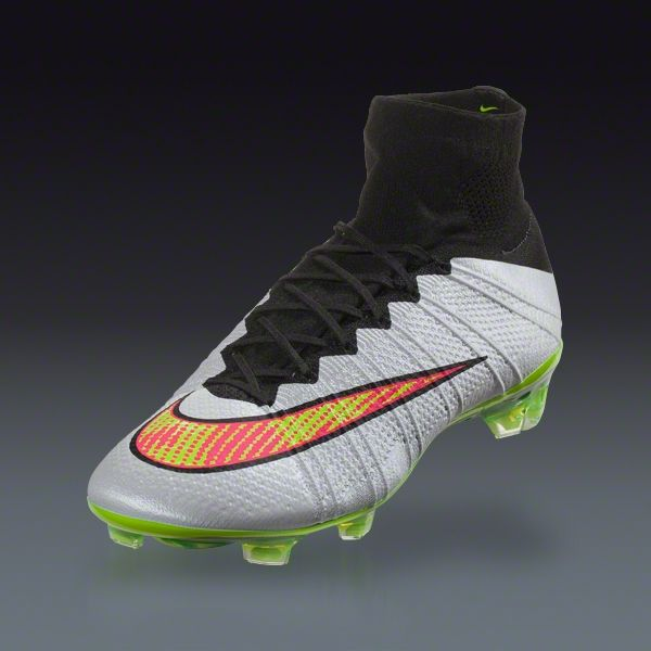 Nike Mercurial Superfly FG - White/Volt/Black/Hyper Pink (Shine)