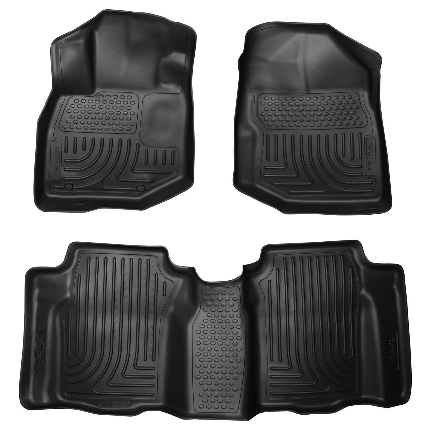 Husky Weatherbeater 2009 2013 Honda Fit Black Front U0026 Rear Floor Mats/Liners