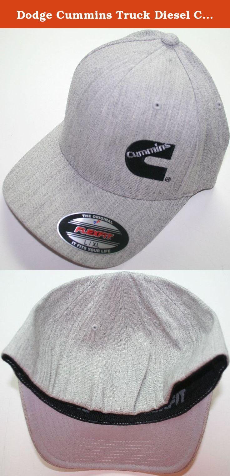 95bac24b3c5 Cummins truck diesel cummings flexfit hat ball cap fitted flex fit s  m  heather Christmas Gifts 2018