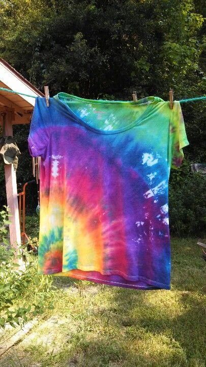Tie Dye Shirt T Shirt Farben Bastelideen Farben