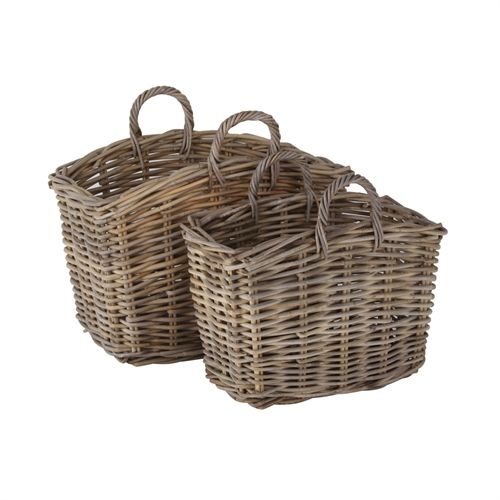 Grey Kooboo Set of 2 Storage Baskets (A780) with Free Delivery | The Cotswold Company