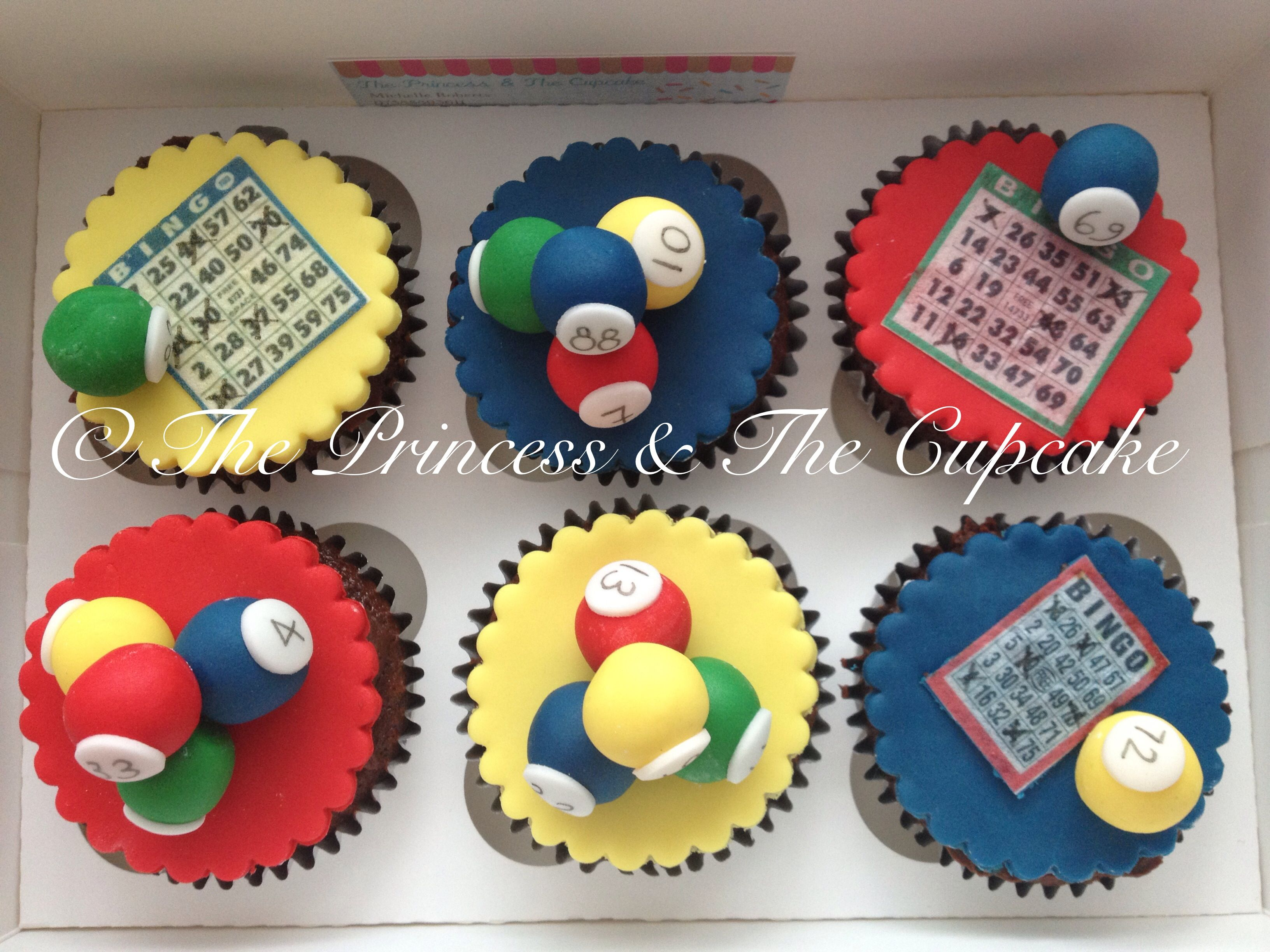 Bingo cupcakes For all your cake decorating supplies please