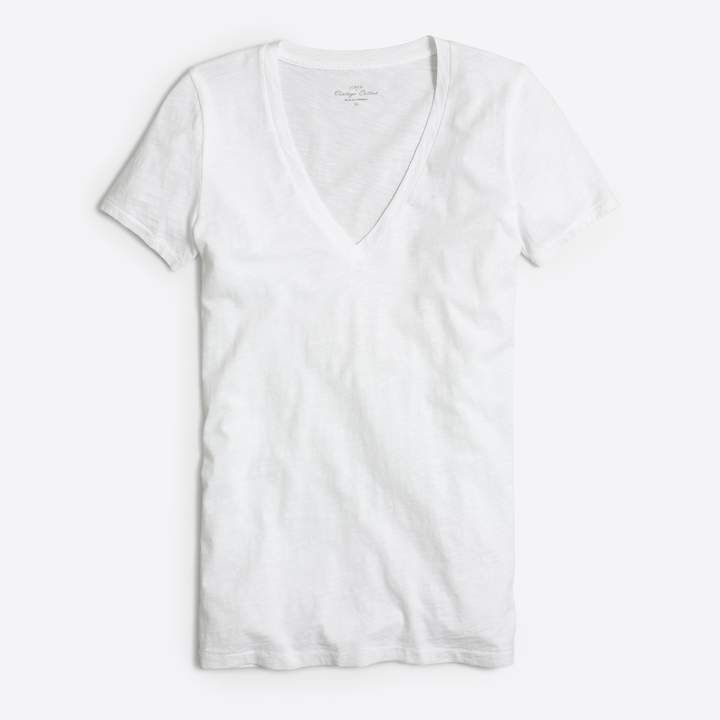 J.Crew Factory Featherweight slub cotton V-neck T-shirt 7709e6c80