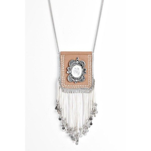 Boohoo Jessica Fringed Pouch Necklace (€14) ❤ liked on Polyvore featuring jewelry, necklaces, camel, stackers jewelry, sparkly necklace, multi layer necklace, layered pendant necklace and layered necklace