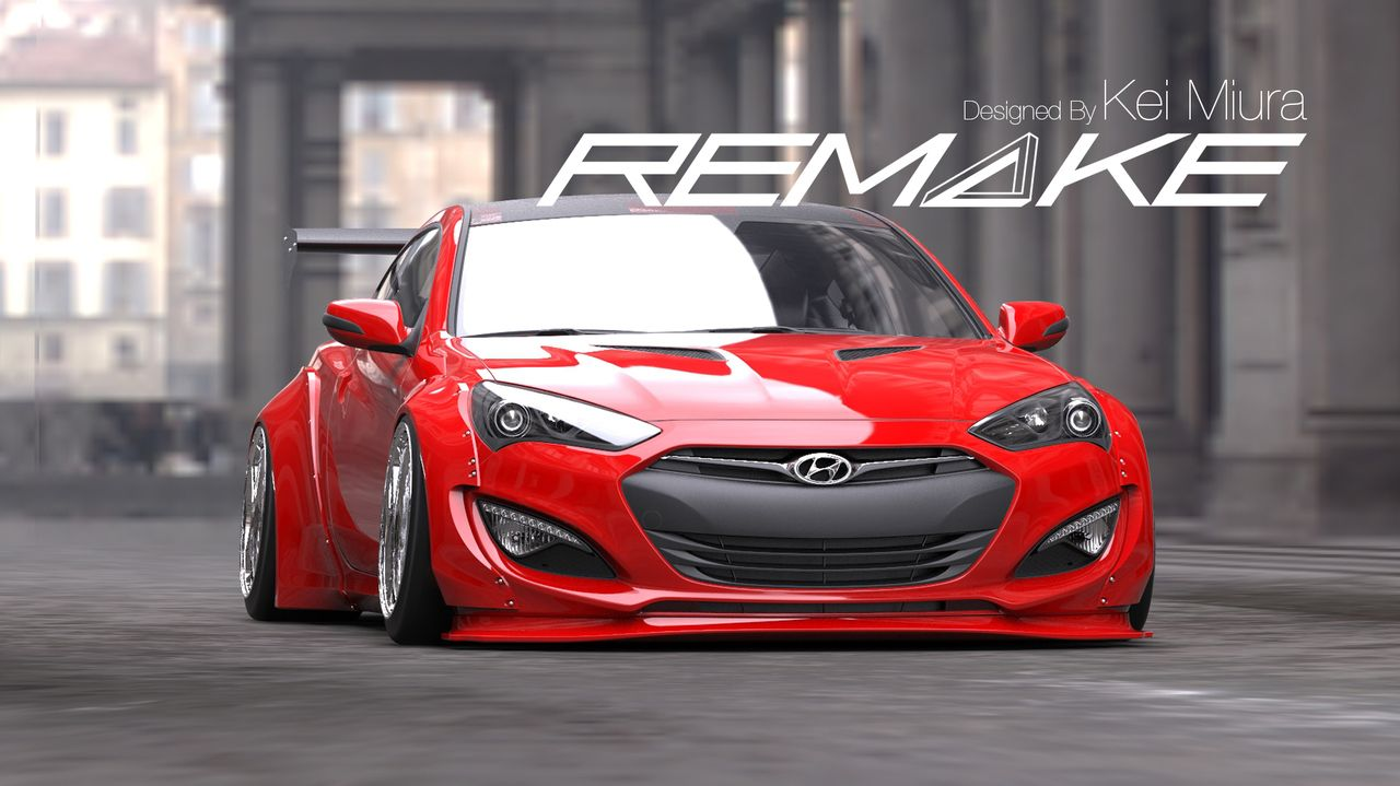 Remake Body Kit For 2013 2015 Hyundai Genesis Coupe Hyundai Genesis Coupe Hyundai Genesis 2015 Hyundai Genesis Coupe