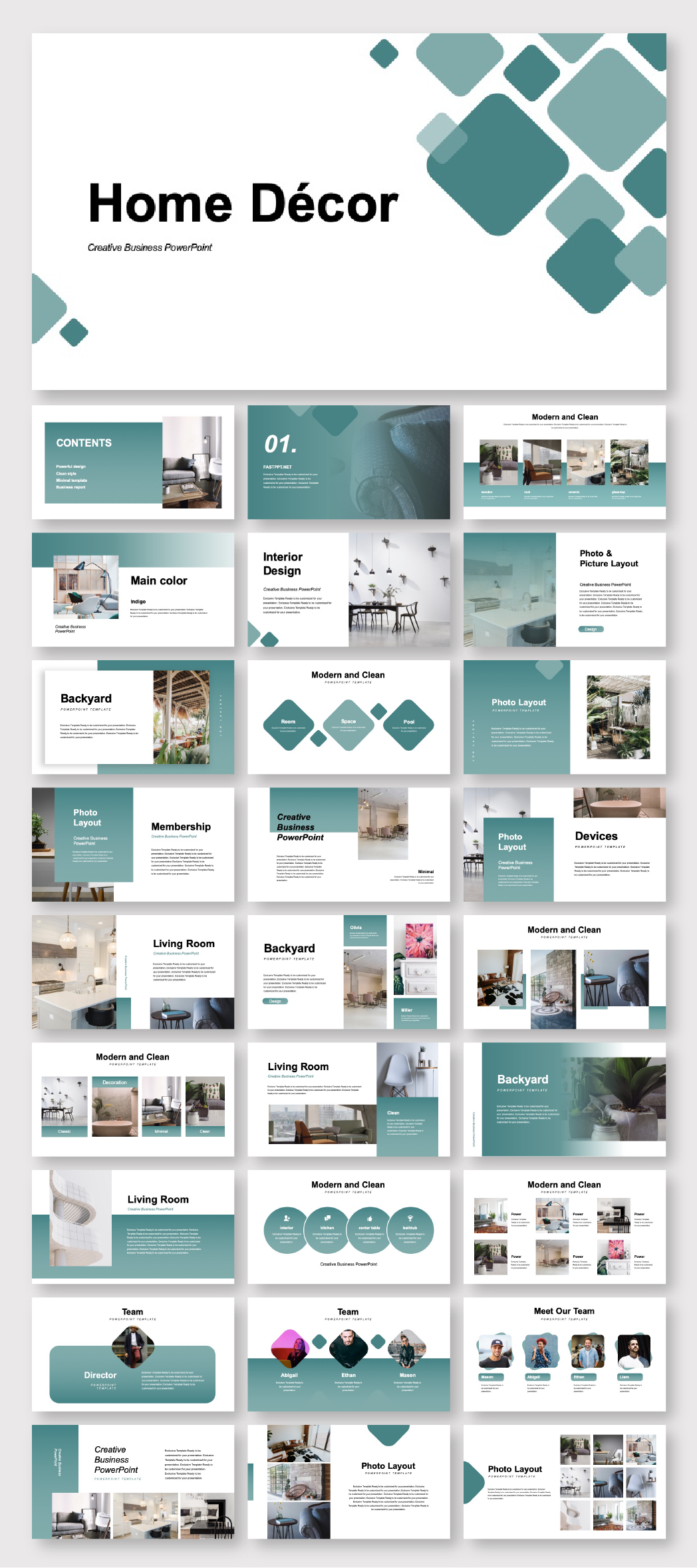 Creative Home Decor Presentation Template – Original and high quality PowerPoint Templates download