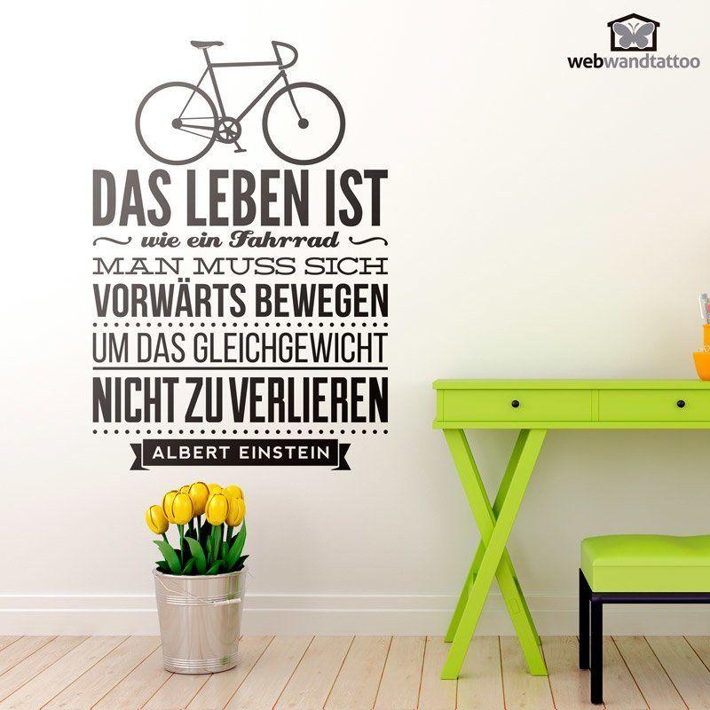wandtattoos das leben ist wie ein fahrrad wandtatoo. Black Bedroom Furniture Sets. Home Design Ideas