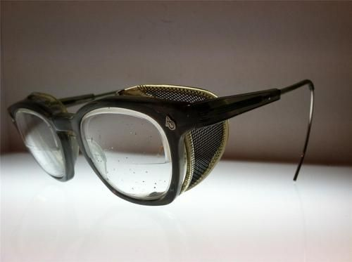 e62aa43fd16 Vtg Old Motorcycle AO Antique Matsuda Sunglasses Safety Glasses Goggles  WWII