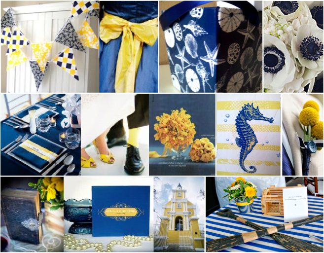 Nautical Wedding Theme Blue Yellow And White