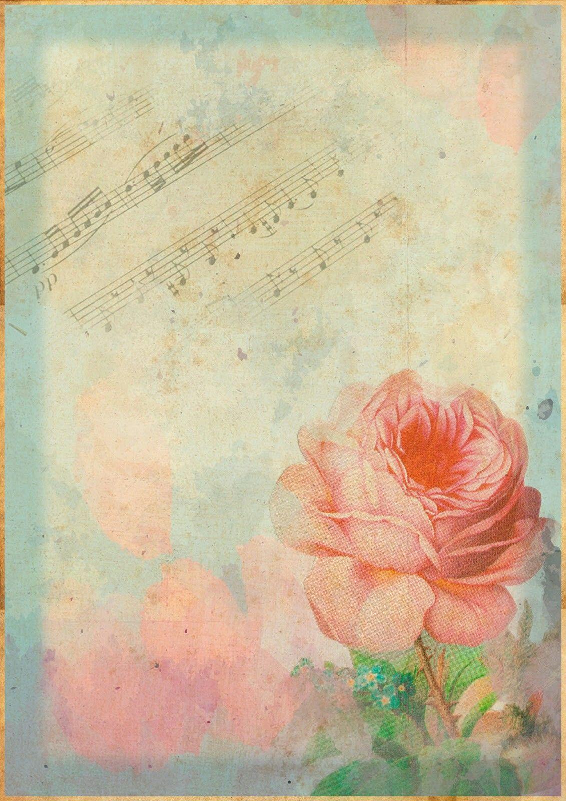 Фон ноты для открытки