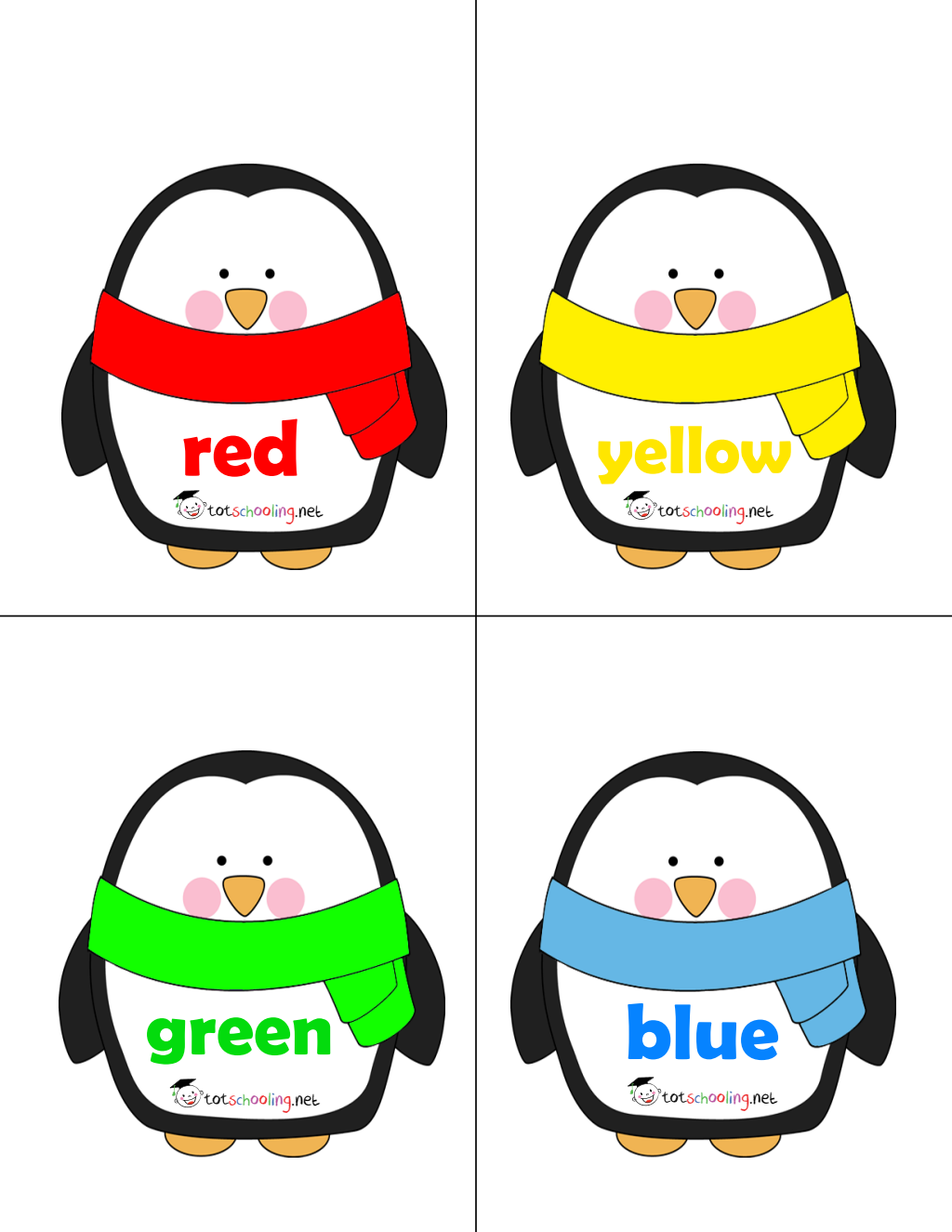 Free Penguin Hats Color Matching