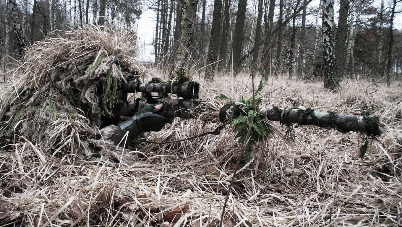 Sniper Hd Wallpaper Airsoft Sniper Ghillie Suit Military