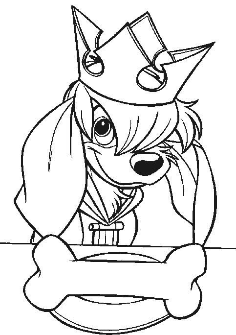 Style Of Dog Anastasia Coloring Pages Coloring pages