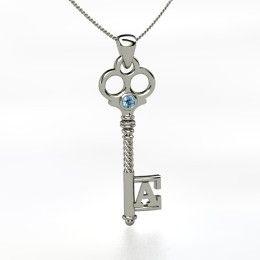 """Bijoux Initial """"A"""" Key"""