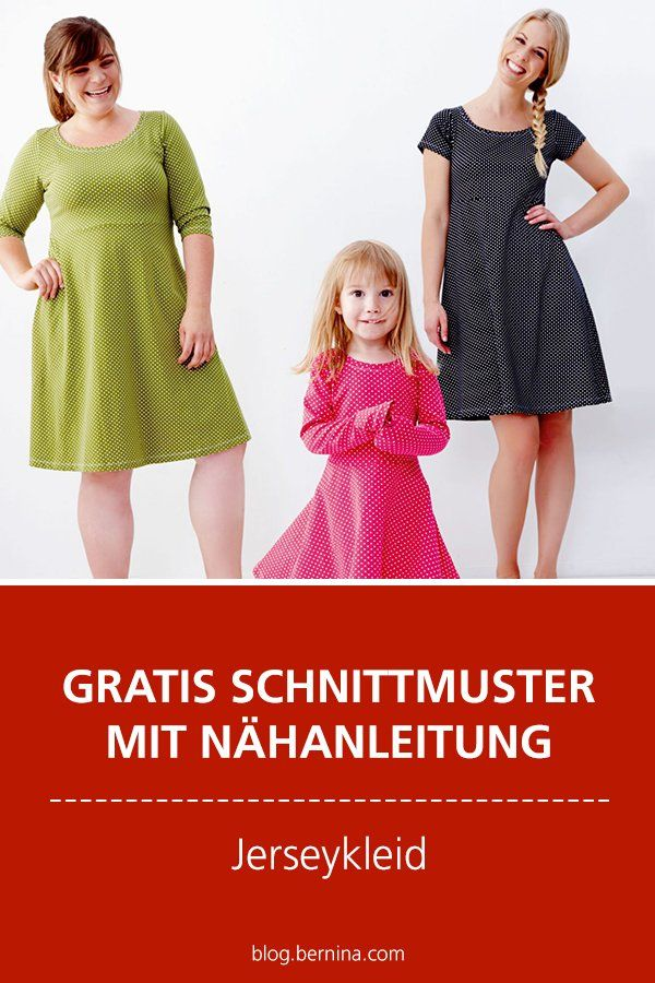 Photo of Jerseykleid nähen mit Gratis-Schnittmuster und Nähanleitung