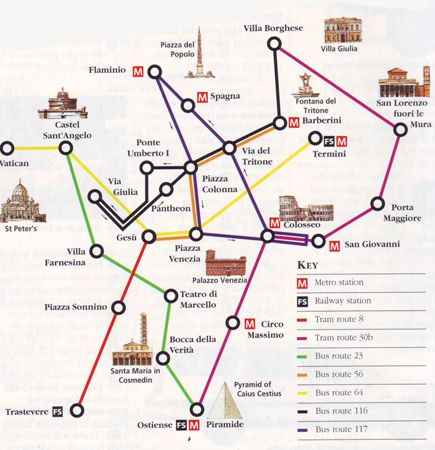 rome italy bus map yiwk