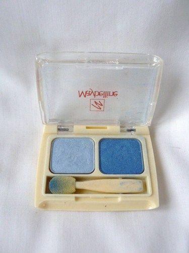 Vintage Maybelline Blue Eye Shadow Duo Palette Eyeshadow 1980s 80s