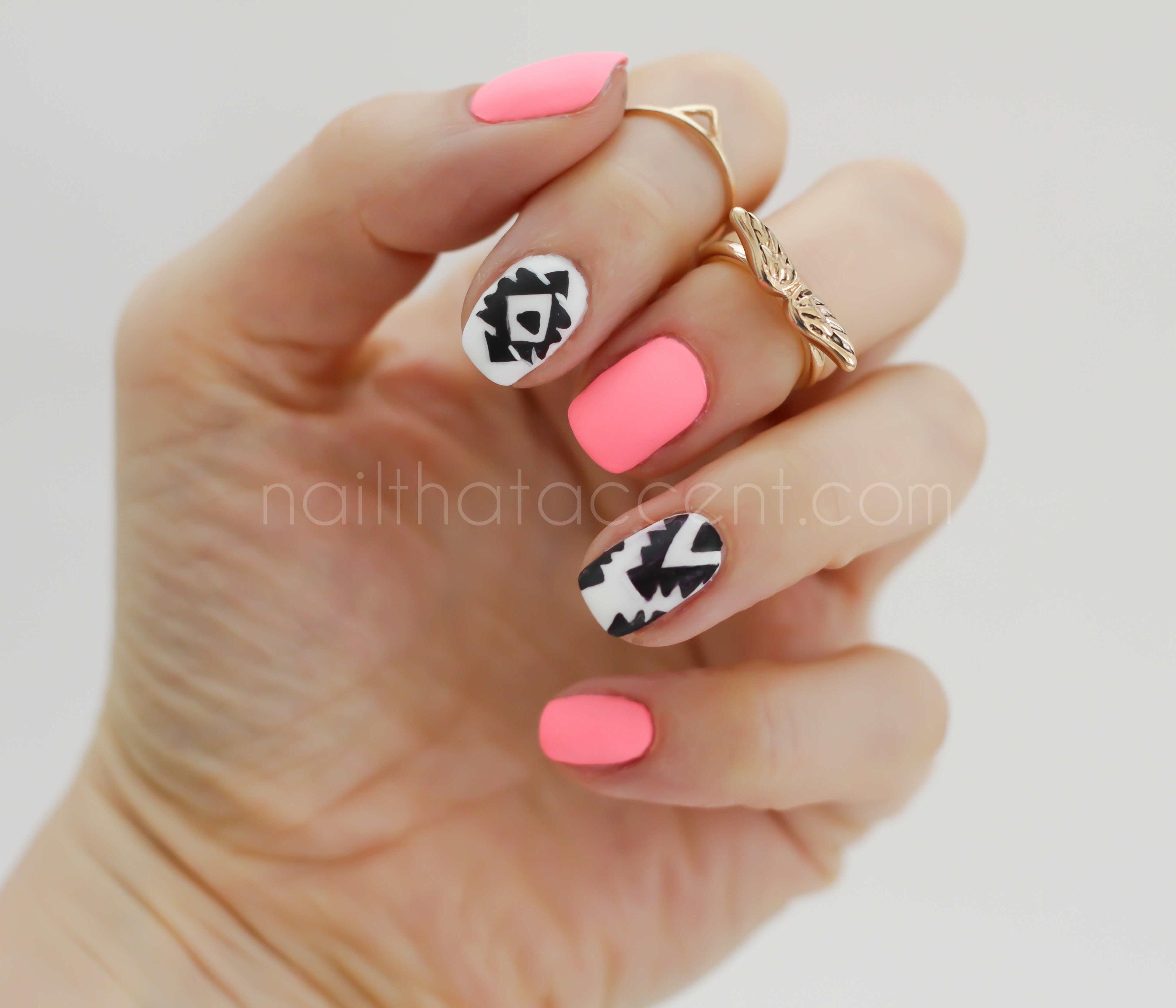 Pink with tribal design