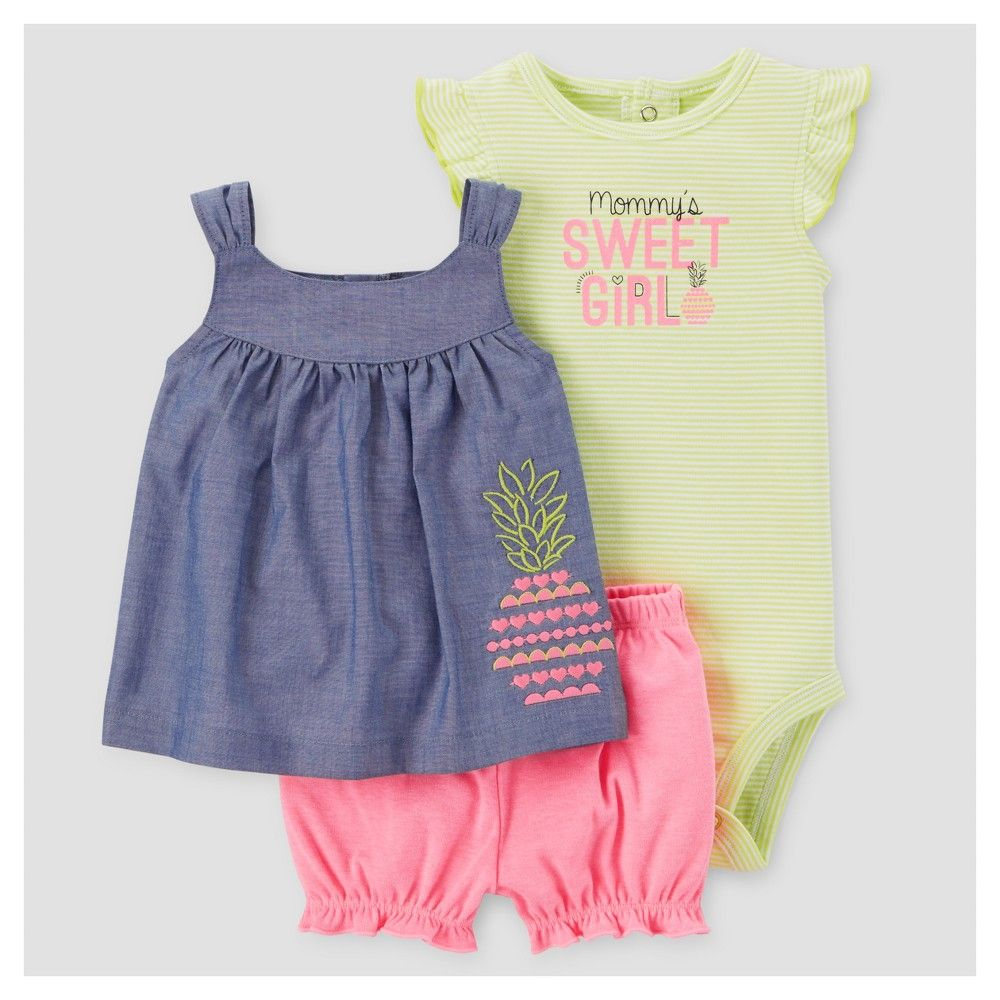 5a2b5e3a6 Baby Girls  3pc Sweet Girl Set - Just One You Made by Carter s ...