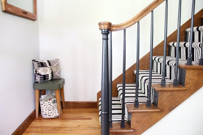 Our Black Painted Staircase #staircaserailings