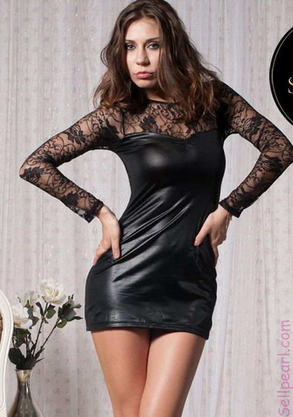 Plus Size Club Leather Dressesleather Club Dresses Plus Size Women