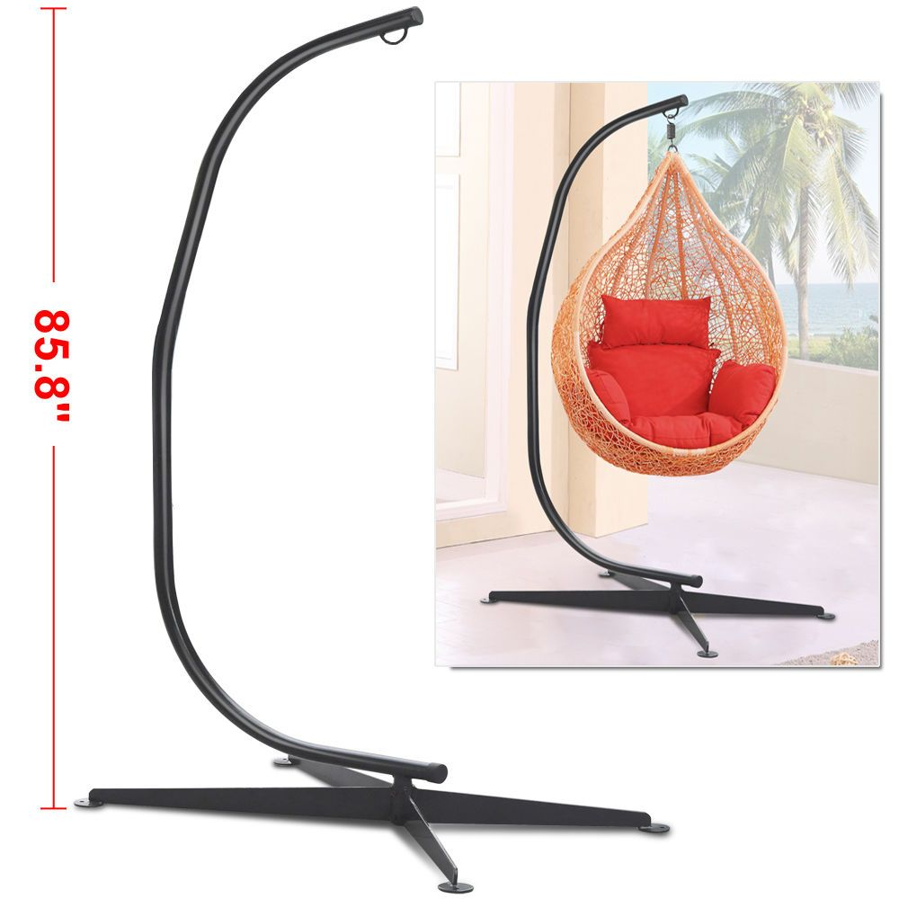 Hammock C Stand Solid Steel Construction For Hammock Air Porch Swing ...