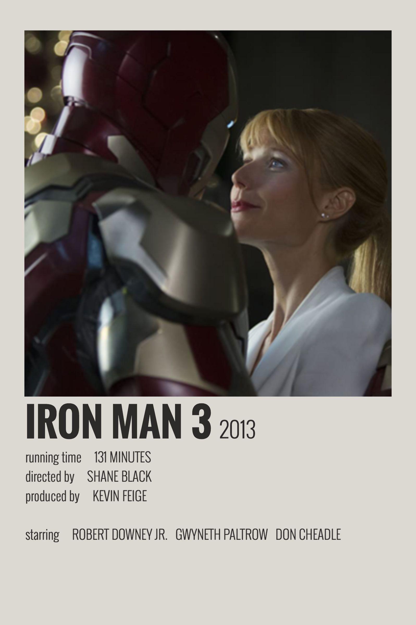 iron man 3 polaroid poster iron man