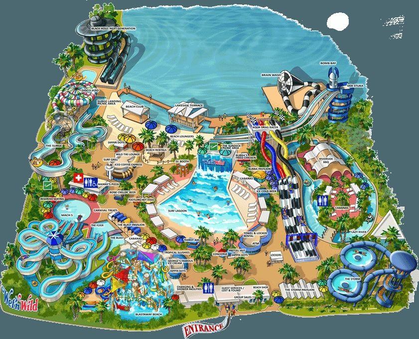 map of wet n wild orlando Universal Studios Florida Park Map Elegant Wet N Wild Thrillz The map of wet n wild orlando