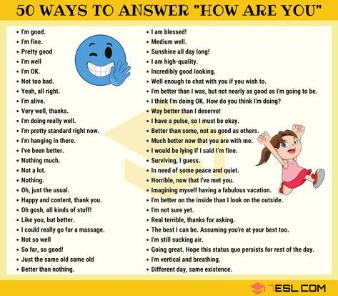 How To Respond To How Are You In English 7esl Learn English Learn English Speaking English Learning Spoken