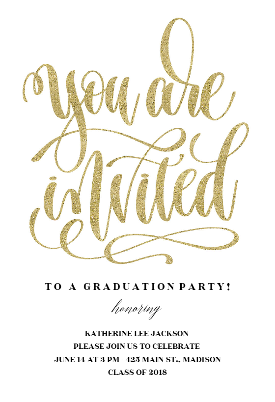 You Are Invited Graduation Party Invitation Template Free