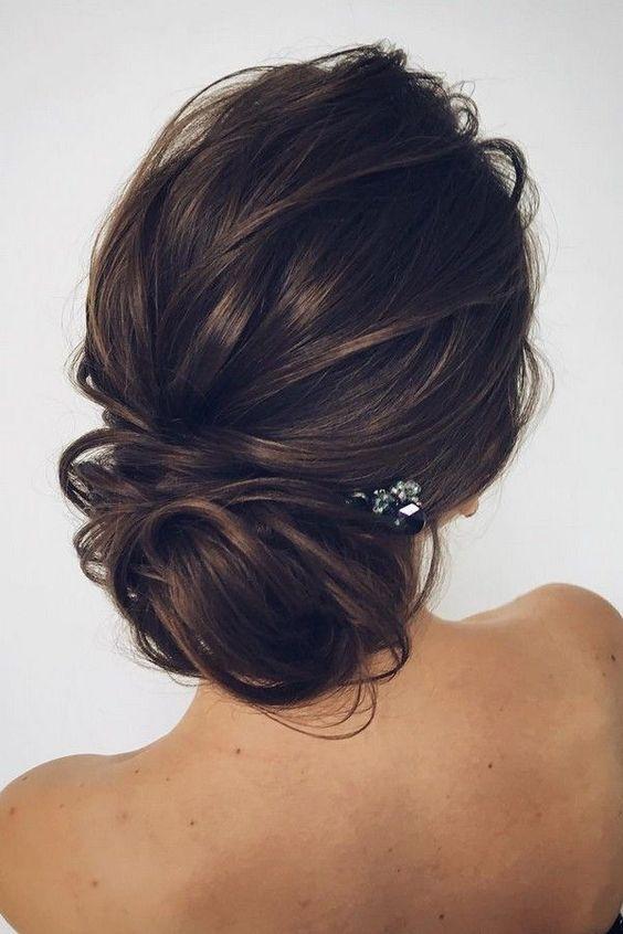 12 trending updo wedding hairstyles from instagram kapsel model romantic wedding updo hairstyle junglespirit Choice Image