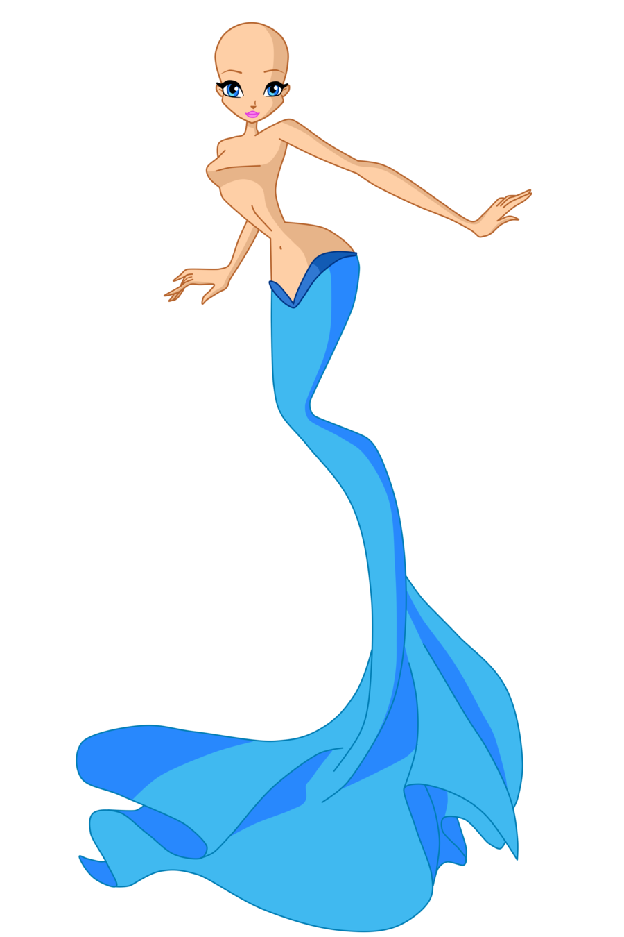 This is a picture of Clean Mermaid Drawing Base
